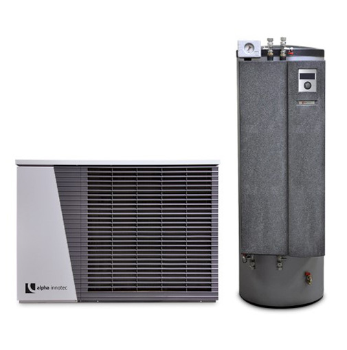 Alpha innotec šilumos siurblys oras-vanduo Alira LWD 50A-HTD 7,1 kW su integruota 180l karšto vandens talpa nuotrauka