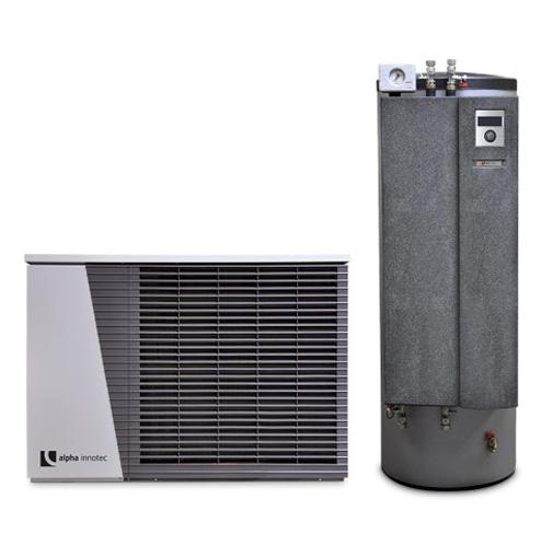 Alpha innotec šilumos siurblys oras-vanduo Alira LWD 90A-HTD 10,1 kW su 180 L su integruota 180l karšto vandens talpa. nuotrauka