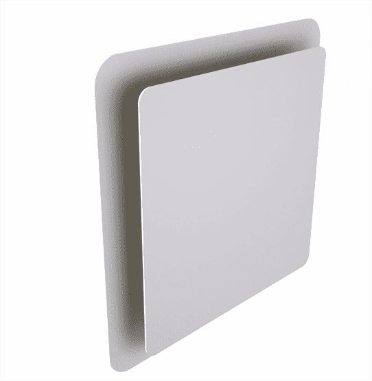 HAELIX SQUARE kvadratinis tiekiamo ir šalinamo oro difuzorius baltas DN125 nuotrauka